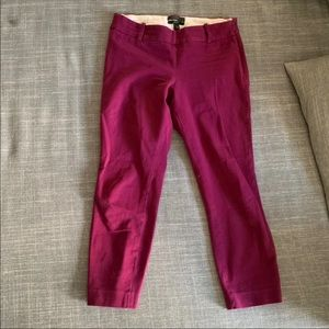 J Crew Minnie Pant in Plum - size 0P